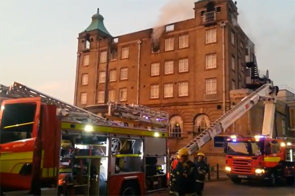 Video: 150 guests evacuated after fire breaks out at Cambridge hotel