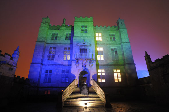 Castle illuminated for Halloween days out in the UK October half term