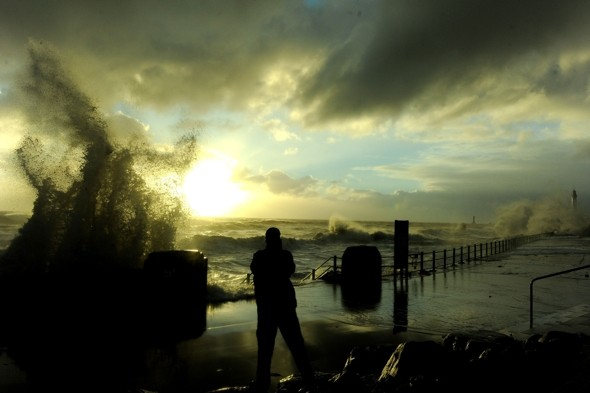 Brrr! Gale-force winds and heavy rain set in for the weekend