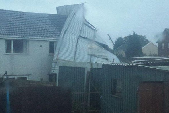 High winds in Wales leave thousands without power