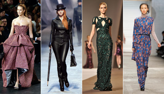 MacPherson on the catwalk at Louis Vuitton, Cole at Hermès, Elie Saab and Cerrutti