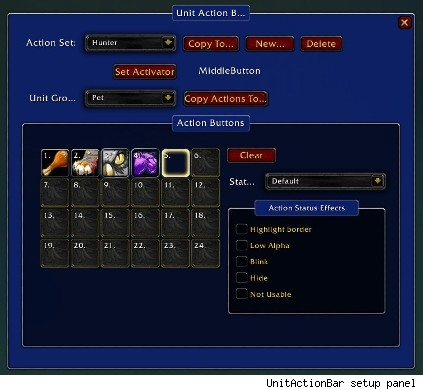 UnitActionBar's setup panel
