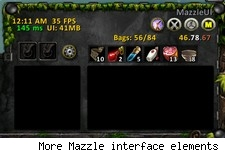 More Mazzle interface elements