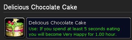 Delicious Chocolate Cake Wowhead