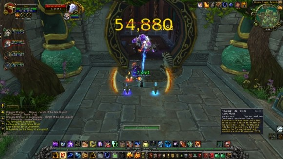 Screenshot with a mouseover of Healing Tide Totem