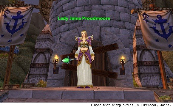 Jaina Proudmoore in Theramore