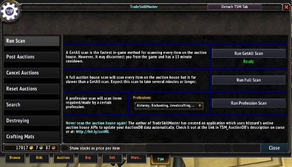 Addon Spotlight: Getting started with TradeSkillMaster Crafting