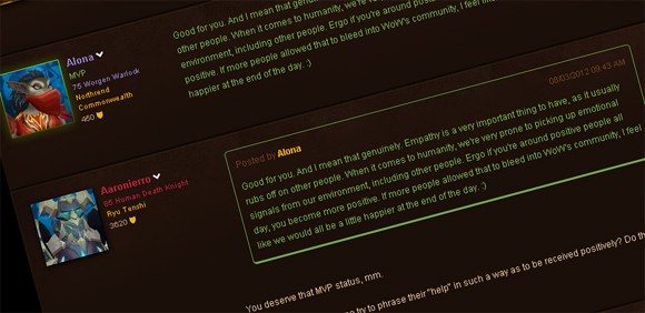 Blizzard green poster Alona on the challenges facing WoW today
