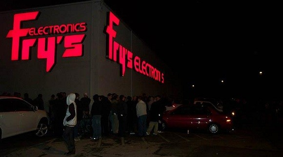 Fry's on the night of the release