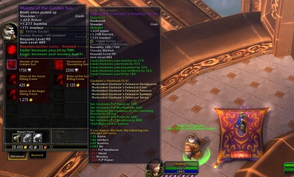 Blood Pact Zone into Pandaria with 8590 leveling tips MON