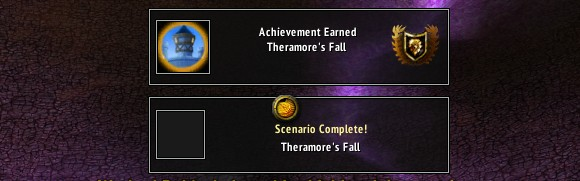 The Fall of Theramore scenario from the Alliance side