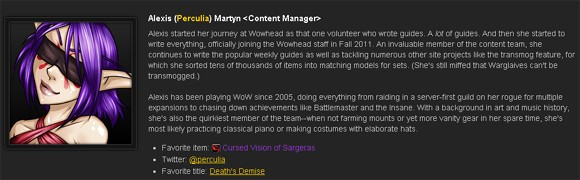 Behind Wowhead's Data Perculia's peculiar talent for curation THU