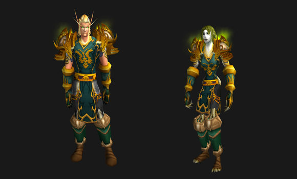 Transmog an outfit to match your exalted Klaxxi tabard
