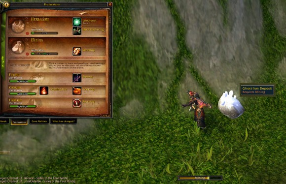 Patch 53 Changes to mining and herbalism allow them to be leveled exclusively in Pandaria
