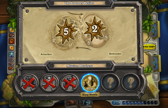 Hearthstone Beta Playing through the tutorial
