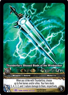 Thunderfury TCG card