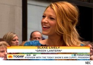 Blake Lively talks about 'The Green Lantern' on 'Today'