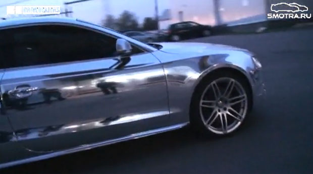 VIDEO: Mirror-finish Audi S5 in Moscow parking garage [w/POLL]