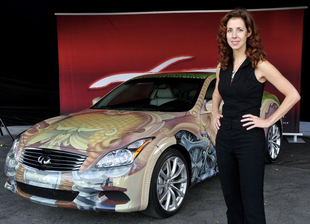 Hand-painted G37 Coupe inspired by Cirque du Soleil commemorates Infiniti's 20th Anniversary [w/VIDEO]