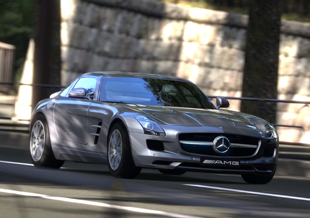 Mercedes-Benz SLS AMG looks good in Gran Turismo 5, too