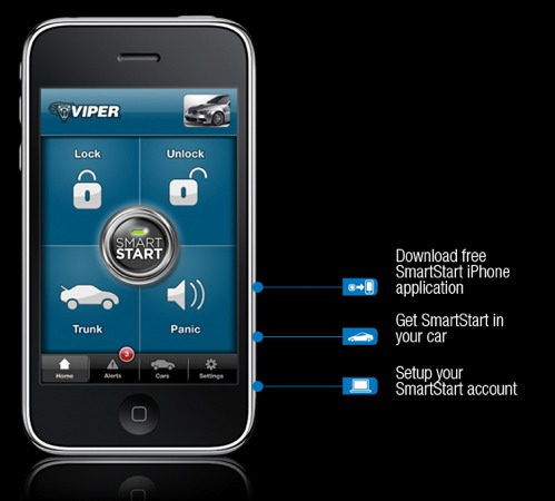 Viper app allows remote start of your car with iPhone