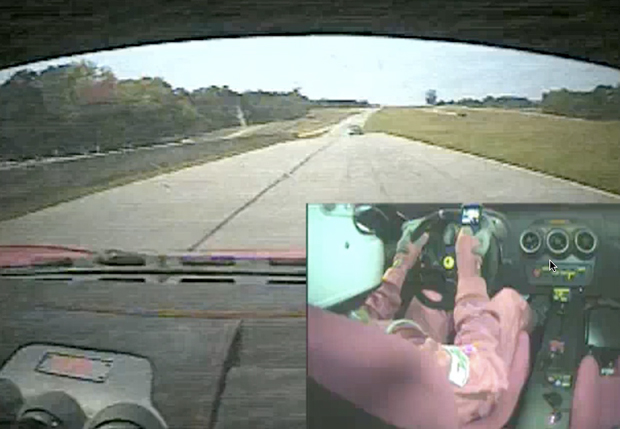 VIDEO: Things to do in your Ferrari F430 Challenge racer when you're bored on straightaways