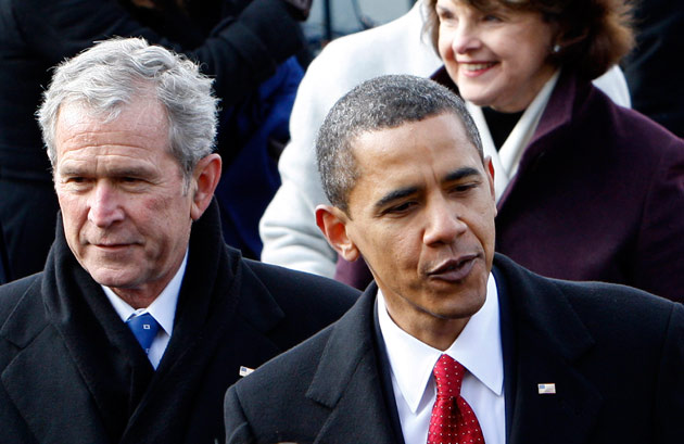 Former President Bush asks Obama to exit the car business