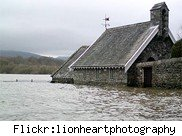flooded house in Cumbria