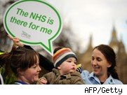 NHS staff demonstrate
