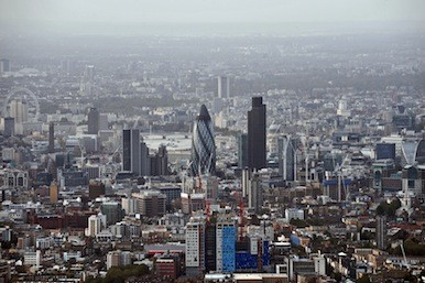 City of London aerial shot