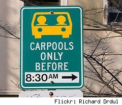 carpool sign