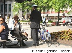 bicycle and man on suit