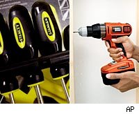 black & decker and stanley works tools