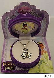 Princess and Frog necklace recalled