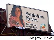 my television my rules sign
