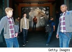 Models wearing Abercrombie & Fitch clothing