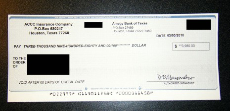 Cashing a forged check