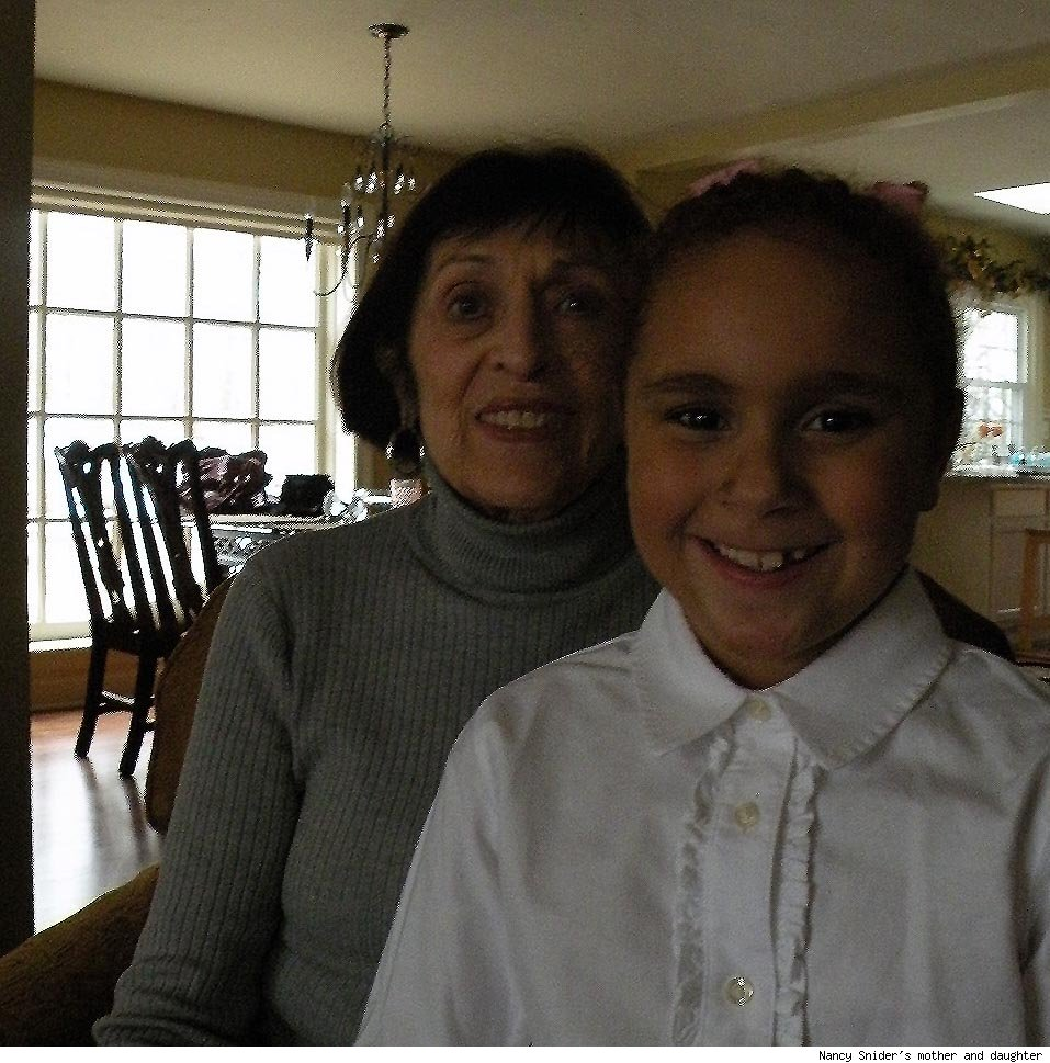 Nancy Snider's mother and daugher