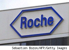 Roche Holding (RHHBY) shares climbed nearly 2% Thursday after the Swiss drugmaker posted first-quarter sales that rose 6% to 12.2 billion Swiss francs ($11.61 billion), thanks to strong demand for key cancer drugs.
