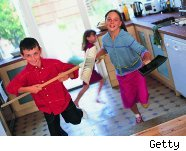 Kids doing chores teaches financial responsibility