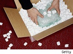packing peanuts not the best shipping option