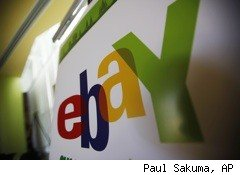 Online auctioneer eBay (EBAY) posted 11% higher first-quarter earnings, powered by a strong performance by the company's PayPal electronic payments business.