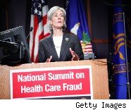Health and Human Services Secretary Kathleen Sebelius addresses health care fraud