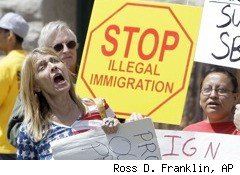 Protest rally against illegal immigration