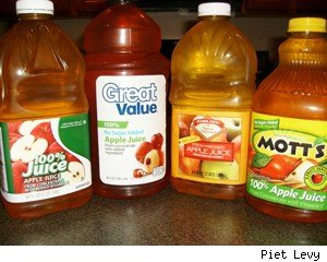 picking the best sugarless apple juice