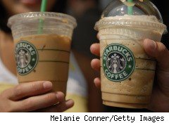 Starbucks's second-quarter 2010 earnings beat expectations, on higher sales after coffee drink prices increased earlier this year