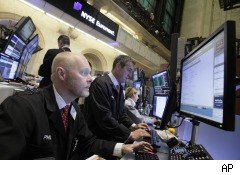 Stock traders at NYSE