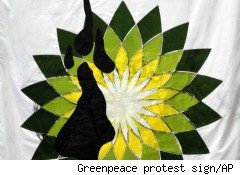 Greenpeace protest BP