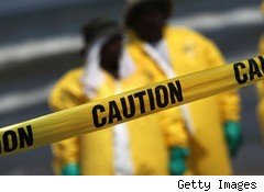 caution sign BP oil spill