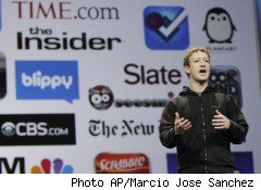 Facebook, the giant social network now under fire over its privacy practices, has been sending personal information to online advertising companies without its users' consent, according to a Harvard Business School professor who filed a letter of complaint with the Federal Trade Commission Thursday. Pictured, Facebook CEO Mark Zuckerberg